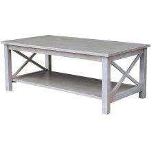 Hampton Coffee Table in Taupe Gray
