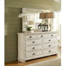 Drawer Dresser - Distressed White Finish Product Image