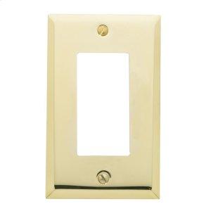 Polished Brass Beveled Edge Single GFCI Product Image