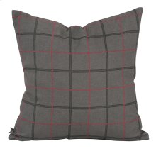 "20"" x 20"" Pillow Oxford Charcoal"