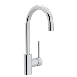 Polished Chrome Pirellone Side Lever Bar/Food Prep Faucet with Pirellone Metal Lever Product Image