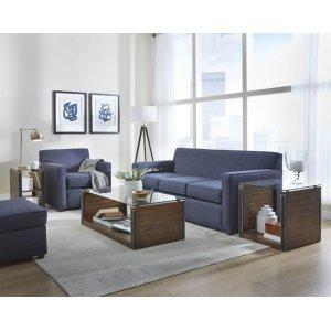 Three Cushion Sofa - Shown in 123-69 SugarShack Navy Finish