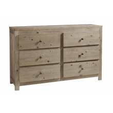 Drawer Dresser - Natural Finish