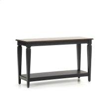 Room Glennwood Sofa Back Table  Black & Charcoal