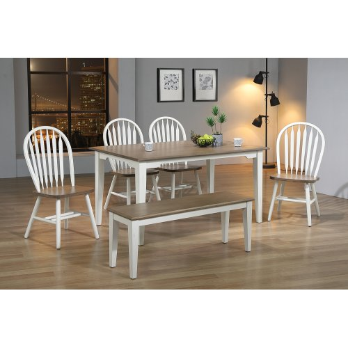 Solid Hardwood Fixed Top Table with Shaker Legs