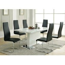 Contemporary Black and Chrome Dining Chair