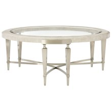 Domaine Blanc Round Cocktail Table in Dove White (374)