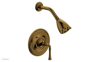 BEADED Pressure Balance Shower Set - Lever Handle 207-21 - French Brass Product Image