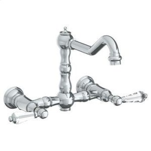 Wall Mounted Bridge Kitchen Faucet Product Image