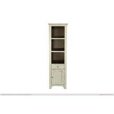 1 Drawer, 1 Door & 3 Shelves Bookcases, Vanilla finish