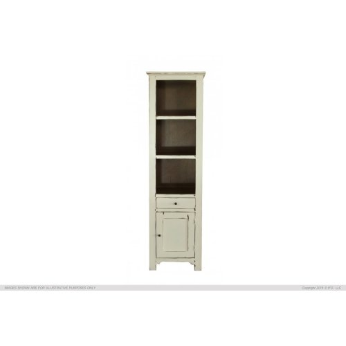 1 Drawer, 1 Door & 3 Shelves Bookcases, Vanilla finish