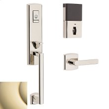 Lifetime Polished Brass Evolved Soho 3/4 Escutcheon Handleset