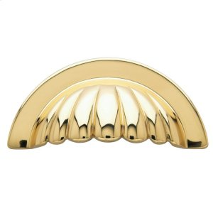 Polished Brass Melon Cup Pull Product Image