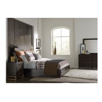 Austin by Rachael Ray Panel Bed w/Storage & Brass Accents, Queen 5/0 Product Image