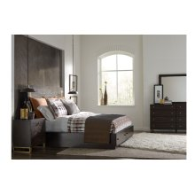 Austin by Rachael Ray Panel Bed w/Storage & Brass Accents, Queen 5/0