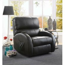 Casual Black Power Lift Recliner