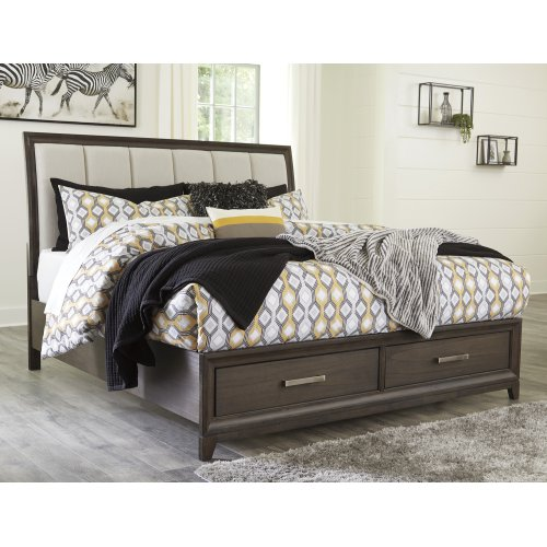 Brueban - Gray 3 Piece Bed Set (King)