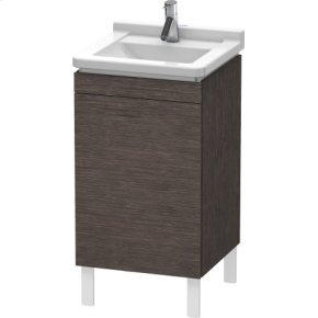 Vanity Unit Floorstanding, Brushed Dark Oak (real Wood Veneer)