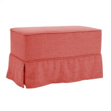 Universal Bench Linen Slub Poppy - Skirted
