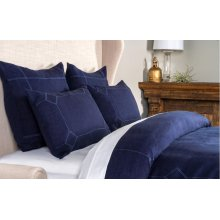 Heirloom Indigo Duvet 5Pc Queen Set
