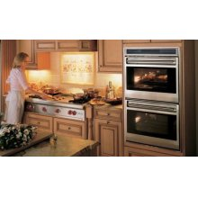 """DO30UP 30"""" Double Oven L Series - Platinum Stainless Unframed"""