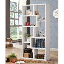 Casual White Bookcase