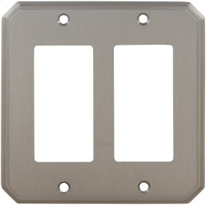 Double Rocker Traditional Switchplate in (US15 Satin Nickel Plated, Lacquered) Product Image