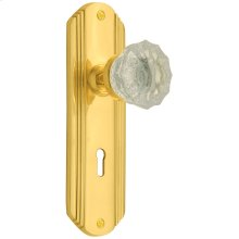 Nostalgic - Mortise - Deco Plate with Crystal Knob in Polished Brass