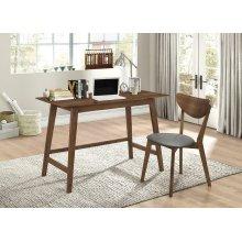Mid-century Modern Walnut Desk and Chair Set
