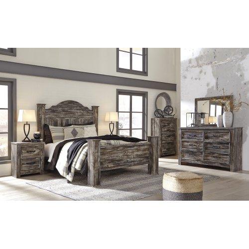 Lynnton - Rustic Brown 4 Piece Bed Set (Queen)