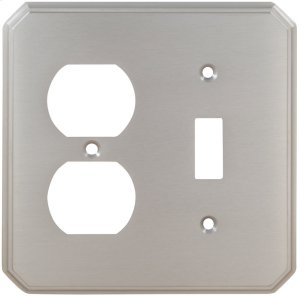 Combination Traditional Switchplate in (US15 Satin Nickel Plated, Lacquered) Product Image