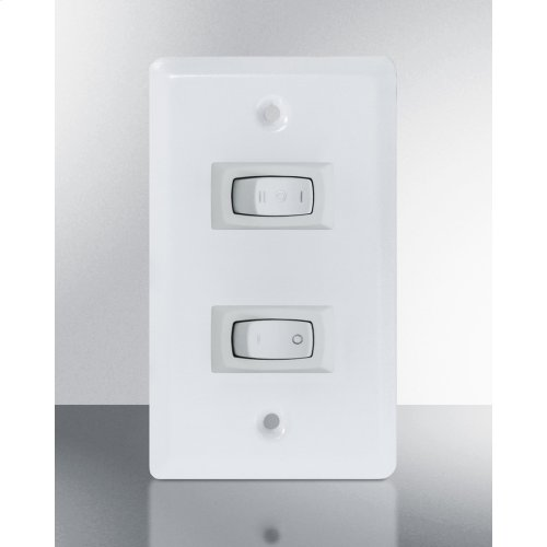 36 Inch Wide ADA Compliant Ductless Range Hood In White Finish With Remote Wall Switch