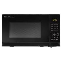 0.7 cu. ft. 700W Sharp Black Carousel Countertop Microwave Oven