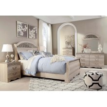 Catalina - Antique White 5 Piece Bedroom Set
