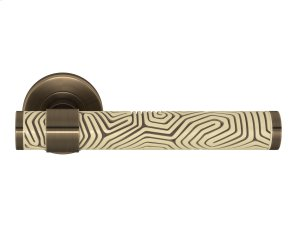 Stepped Recess Amalfine Labyrinth In Sand And Fine Antique Brass Product Image