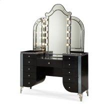 Upholstered Vanity & Mirror