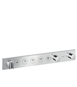 Chrome Thermostatic module Select 670/90 for concealed installation for 5 functions Product Image