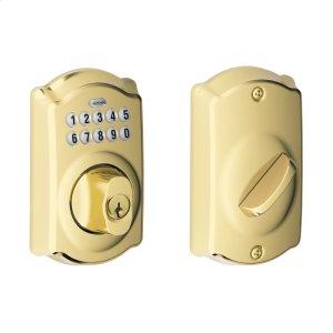 Camelot Trim Keypad Deadbolt - Bright Brass Product Image