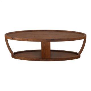 Dylan Oval Coffee Table Rustic Walnut