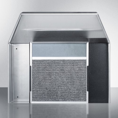 30 Inch Wide ADA Compliant Convertible Range Hood for Ducted or Ductless Use In Stainless Steel With Remote Wall Switch