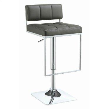 Contemporary Grey Adjustable Bar Stool