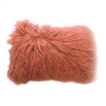 Lamb Fur Pillow Rect. Orange