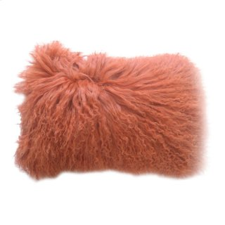 Lamb Fur Pillow Rect. Orange