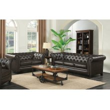 Roy Traditional Brown Two-piece Living Room Set