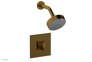 DIAMA Pressure Balance Shower Set - Blade Handle 184-21 - French Brass Product Image