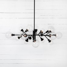 Flat Black Finish Pellman Chandelier