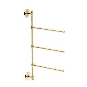 3-Arm Towel Bar in Polished Brass Product Image