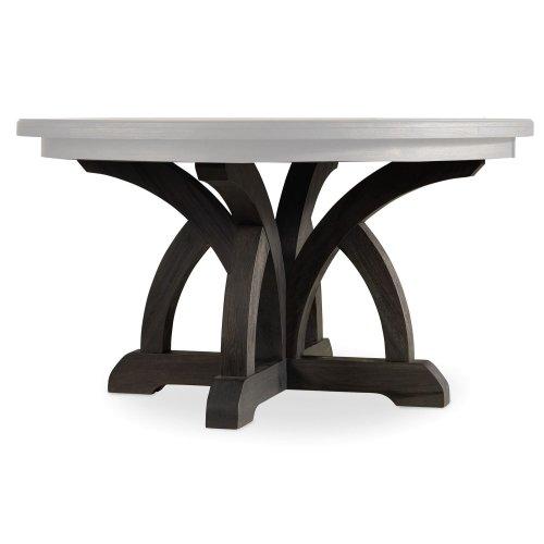 Dining Room Corsica Dark Round Dining Table (Dark Base/Light Top)