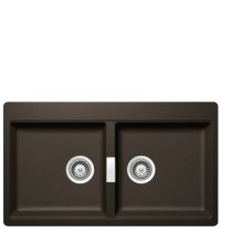 Bronze Built-in sink Horizont N-200 stackpacked incl. automatic drain kit