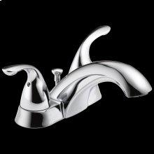 Chrome Two Handle Centerset Bathroom Faucet